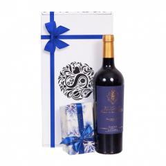 Cadou vin si ciocolata blue P5285