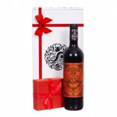 Cadou vin si ciocolata red P5291
