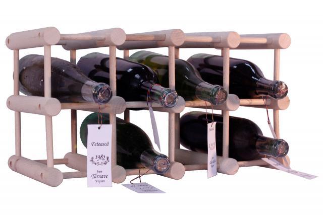 Suport lemn 12 sticle