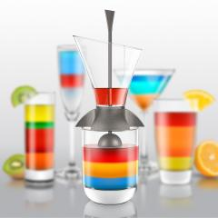 Palnie turnare cocktail-uri in straturi